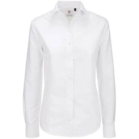 Oxford Shirt Long Sleeve / Women in White von B&C (Artnum: BCSWO03