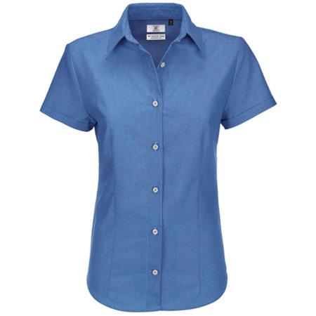 Oxford Shirt Short Sleeve / Women in Blue Chip von B&C (Artnum: BCSWO04