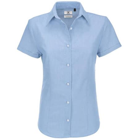 Oxford Shirt Short Sleeve / Women von B&C (Artnum: BCSWO04
