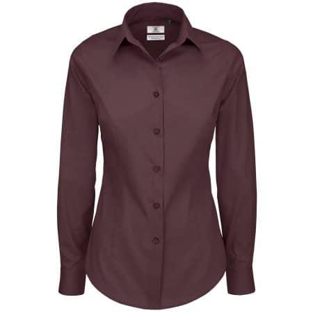 Poplin Shirt Black Tie Long Sleeve / Women von B&C (Artnum: BCSWP23