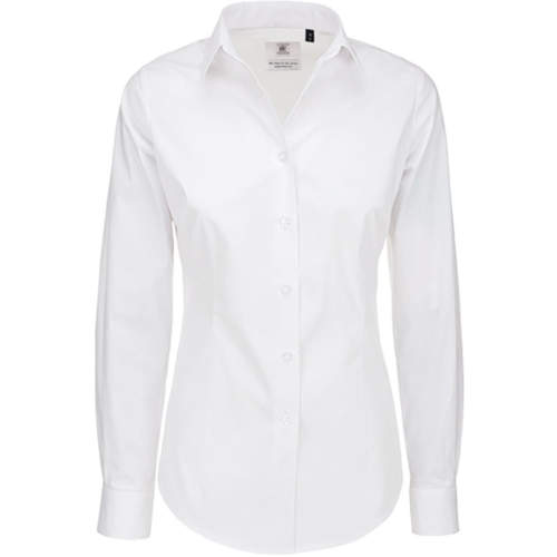 B&C - Poplin Shirt Black Tie Long Sleeve / Women