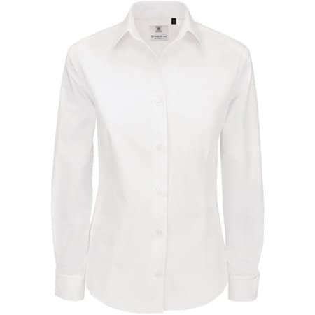 Poplin Shirt Heritage Long Sleeve / Women in White von B&C (Artnum: BCSWP43