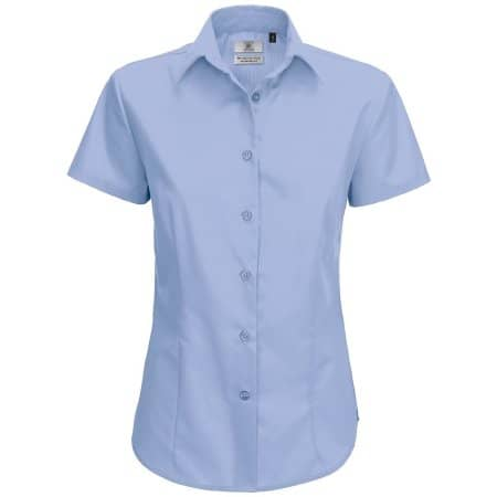 Poplin Shirt Smart Short Sleeve / Women von B&C (Artnum: BCSWP64