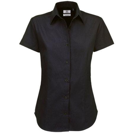Twill Shirt Sharp Short Sleeve / Women in Black von B&C (Artnum: BCSWT84