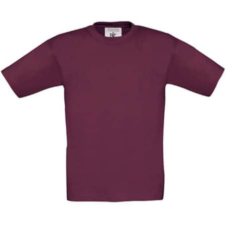 T-Shirt Exact 150 / Kids in Burgundy von B&C (Artnum: BCTK300