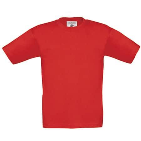 T-Shirt Exact 190 / Kids in Red von B&C (Artnum: BCTK301