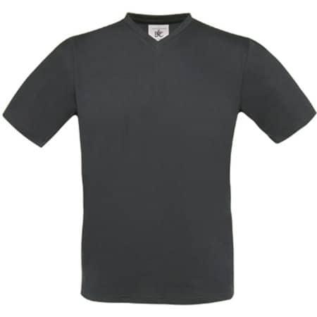 T-Shirt Exact V-Neck in Dark Grey (Solid) von B&C (Artnum: BCTU006