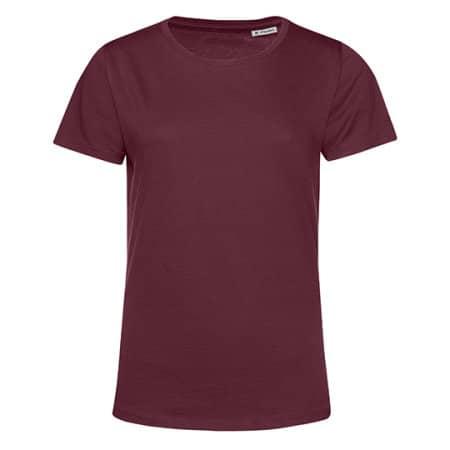 #Organic E150 T-Shirt /Women in Burgundy von B&C (Artnum: BCTW02B