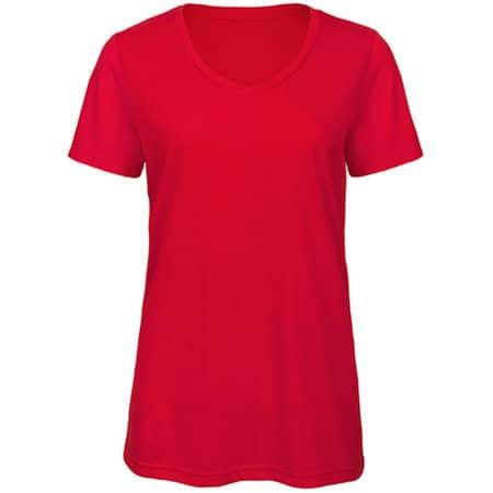 V-Neck Triblend T-Shirt /Women in Red von B&C (Artnum: BCTW058
