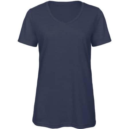 V-Neck Triblend T-Shirt /Women von B&C (Artnum: BCTW058