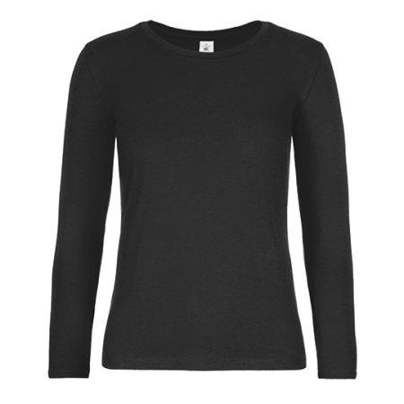 T-Shirt #E190 Long Sleeve / Women (Exact) in Black von B&C (Artnum: BCTW08T