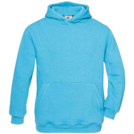Hooded Sweat / Kids in Very Turquoise von B&C (Artnum: BCWK681
