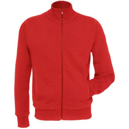Sweat Jacket Spider / Men in Red von B&C (Artnum: BCWM646