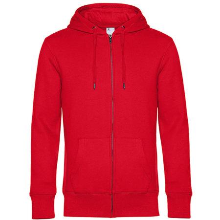 KING Zipped Hood Jacket in Red von B&C (Artnum: BCWU03K