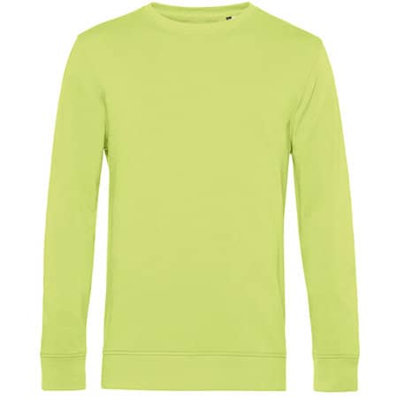 Organic Crew Neck Sweat in Lime von B&C (Artnum: BCWU31B