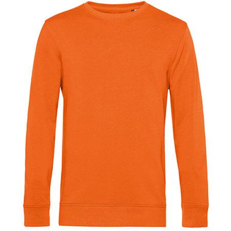 Organic Crew Neck Sweat in Pure Orange von B&C (Artnum: BCWU31B