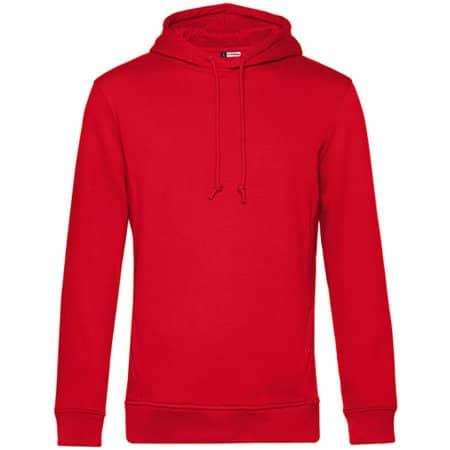 Organic Hooded Sweat in Red von B&C (Artnum: BCWU33B