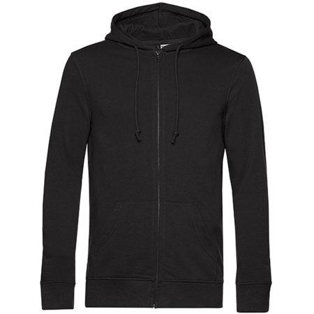 Organic Zipped Hood Jacket in Black Pure von B&C (Artnum: BCWU35B