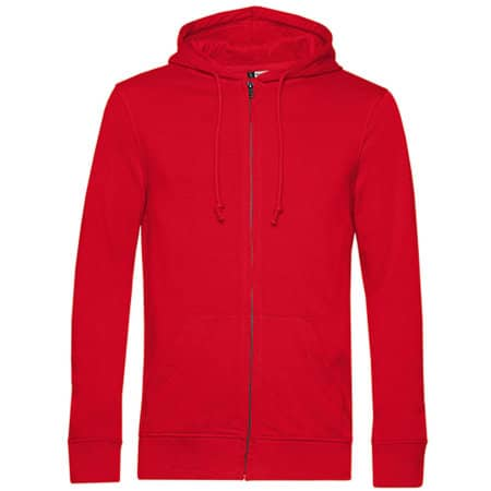 Organic Zipped Hood Jacket in Red von B&C (Artnum: BCWU35B