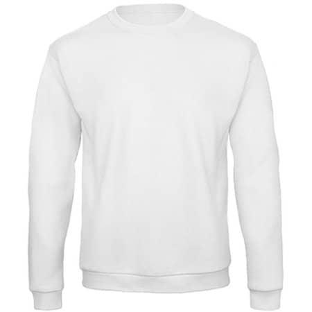 ID202 50/50 Sweatshirt in White von B&C (Artnum: BCWUI23