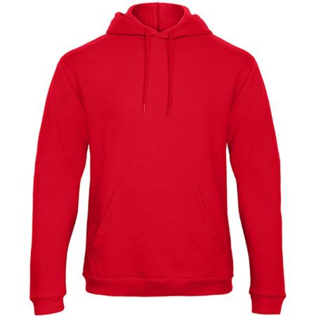 ID203 50/50 Hooded Sweatshirt in Red von B&C (Artnum: BCWUI24