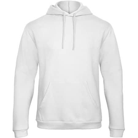 ID203 50/50 Hooded Sweatshirt in White von B&C (Artnum: BCWUI24