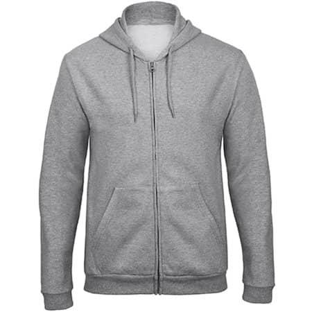 ID205 Sweat-Jacket 50/50 in Heather Grey von B&C (Artnum: BCWUI25