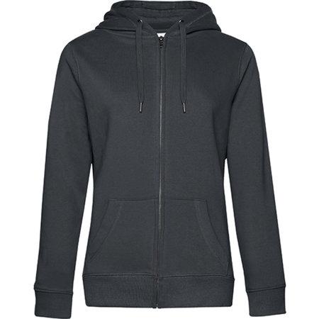 QUEEN Zipped Hood Jacket /Women in Asphalt von B&C (Artnum: BCWW03Q