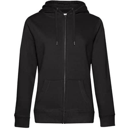 QUEEN Zipped Hood Jacket /Women in Black Pure von B&C (Artnum: BCWW03Q