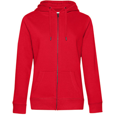 QUEEN Zipped Hood Jacket /Women in Red von B&C (Artnum: BCWW03Q