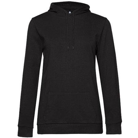 #Hoodie Sweat /Women in Black Pure von B&C (Artnum: BCWW04W