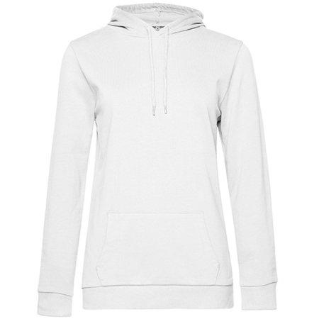 #Hoodie Sweat /Women in White von B&C (Artnum: BCWW04W
