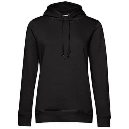 Organic Hooded Sweat /Women in Black Pure von B&C (Artnum: BCWW34B