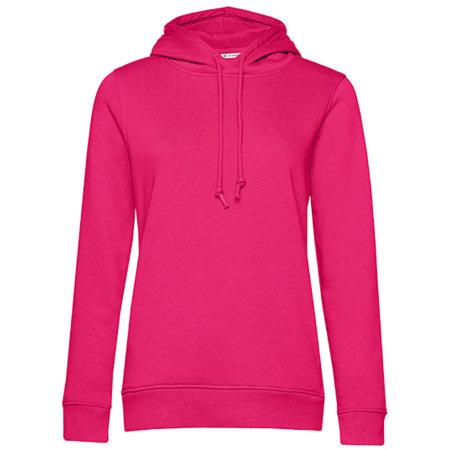 Organic Hooded Sweat /Women in Magenta Pink von B&C (Artnum: BCWW34B