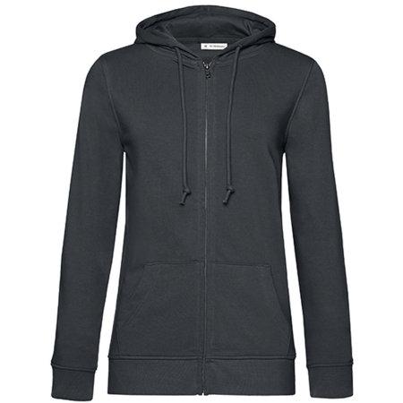 Organic Zipped Hood Jacket /Women in Asphalt von B&C (Artnum: BCWW36B