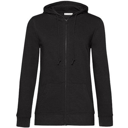 Organic Zipped Hood Jacket /Women in Black Pure von B&C (Artnum: BCWW36B