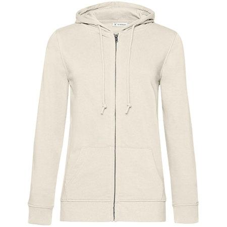 Organic Zipped Hood Jacket /Women in Off White von B&C (Artnum: BCWW36B