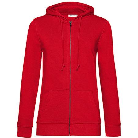 Organic Zipped Hood Jacket /Women in Red von B&C (Artnum: BCWW36B