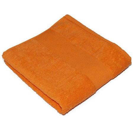 Classic Guest Towel in Sunny Orange (Orange) von Bear Dream (Artnum: BD210