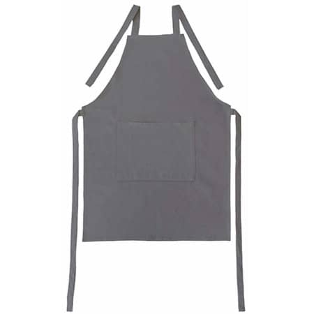 Apron with Pocket Canvas in Anthracite Grey (Grey) von Bear Dream (Artnum: BD820