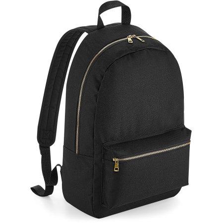 Metallic Zip Backpack von BagBase (Artnum: BG235