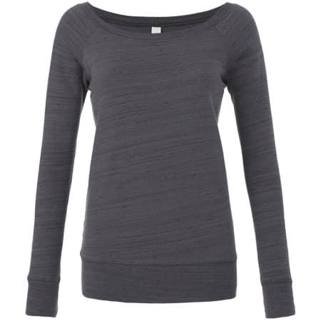 Women`s Sponge Fleece Wide Neck Sweatshirt von Bella (Artnum: BL7501