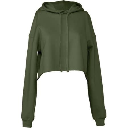 Women´s Cropped Fleece Hoodie von Bella (Artnum: BL7502