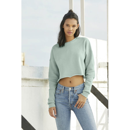 Women´s Cropped Crew Fleece von Bella (Artnum: BL7503