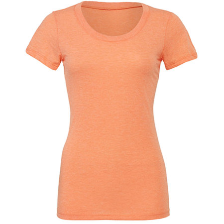 Triblend Crew Neck T-Shirt Woman in Orange Triblend (Heather) von Bella (Artnum: BL8413