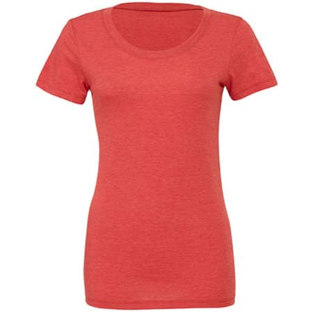 Triblend Crew Neck T-Shirt Woman in Red Triblend (Heather) von Bella (Artnum: BL8413