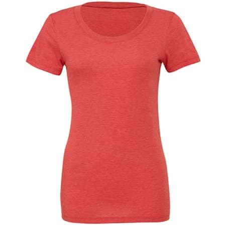 Triblend Crew Neck T-Shirt Woman in Red Triblend (Heather) von Bella (Artnum: BL8413
