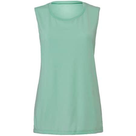 Women`s Flowy Scoop Muscle T-Shirt von Bella (Artnum: BL8803