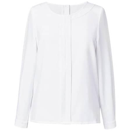 Women`s Riola Long Sleeve Blouse in White von Brook Taverner (Artnum: BR800