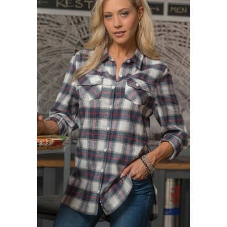Women`s Woven Plaid Flannel Shirt von Burnside (Artnum: BU5210